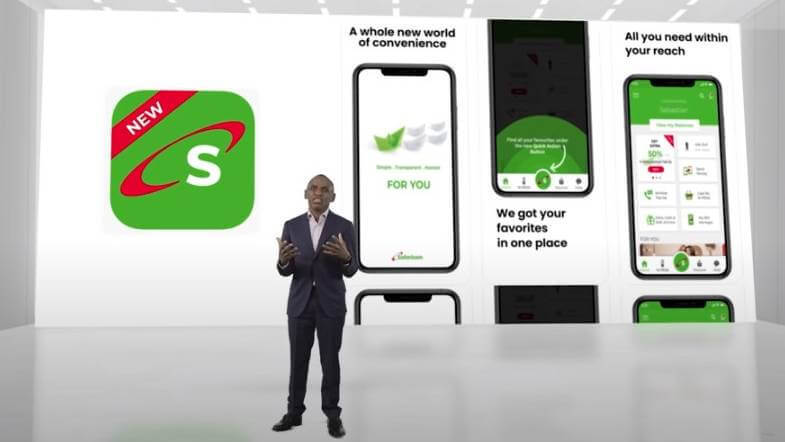 Safaricom CEO Peter Ndegwa at the super app launch in Nairobi.