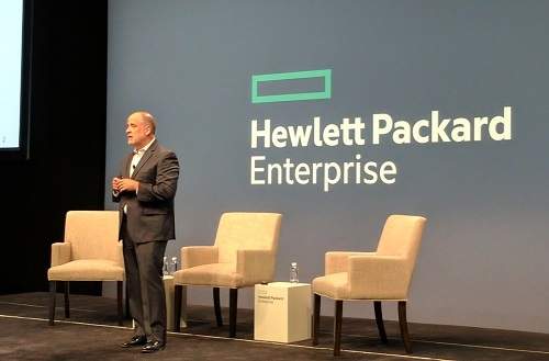 Mark Potter, the CTO of HPE and the director of HP Labs, speaking at Discover (Source: ECN)