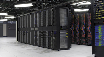 Inside an IBM data center. (Photo source: IBM)