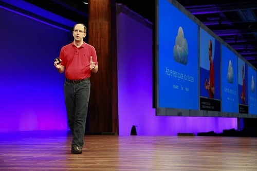 Scott Guthrie, cloud and enterprise group EVP, speaking at Microsoft Build earlier this year.  (Source: Microsoft)