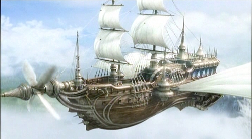 The airship Enterprise from the game Final Fantasy IV. Via Wikia.