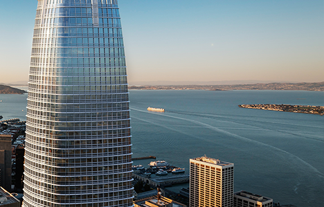 Salesforce HQ and money tower (Source: Salesforce)