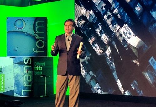 Lenovo CEO Yuanqing Yang at Transform in NYC (Source: ECN)