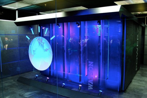 Watson servers. Photo source: IBM.