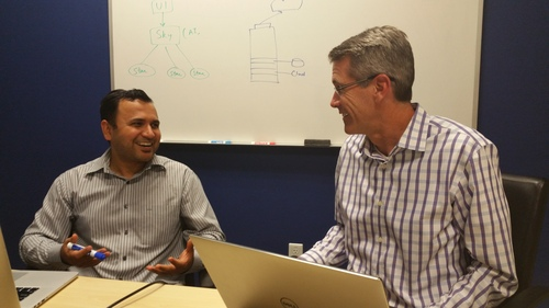 New ZeroStack CEO David Greene (right), with founder and CTO Ajay Gulati