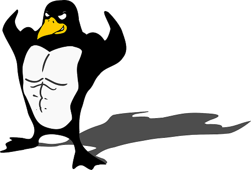 Feeling strong about open source (Source: OpenClipart-Vectors via Pixabay)