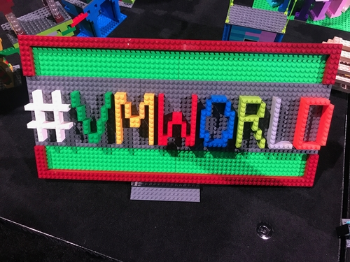 Detail of an impressive Lego mashup of VMworld and Vegas.
