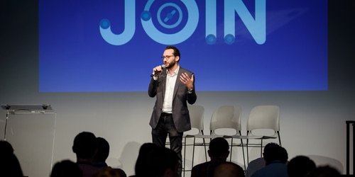 Looker's Daniel Mintz speaks at JOIN, the company's user conference.