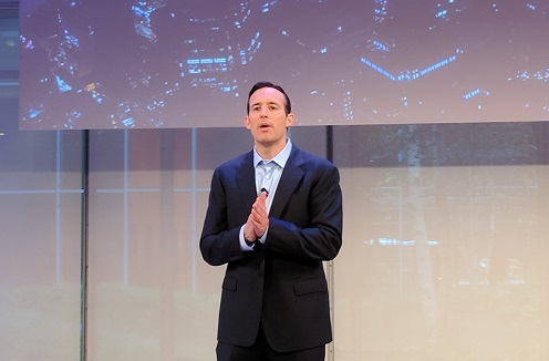 BMC CEO Peter Leav speaking in New York City (Source: ECN)