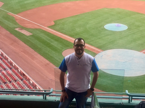 Workday's Edgar Magana at Fenway Park during a social event for OpenStack Summit in Boston this year.