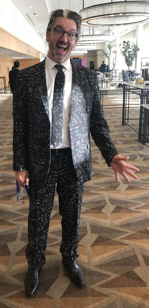Brad Topliff, Tibco director of innovation, certainly has an innovative fashion sense. The $99 outfit is called Science Faction, from Oppo Suits.