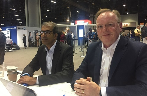 Accenture's Kamran Ikram and Towergate CIO Gordon Walters