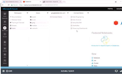 Microsoft Azure Databricks preview  (Source: Microsoft)
