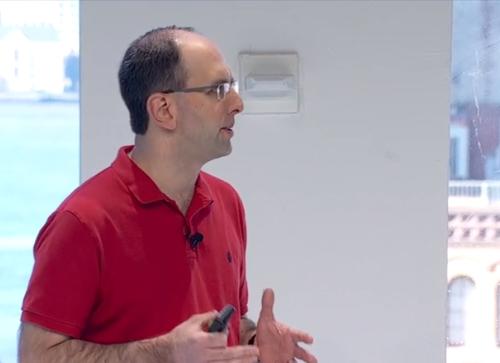 Microsoft EVP Scott Guthrie speaking at Connect. (Source: Microsoft)