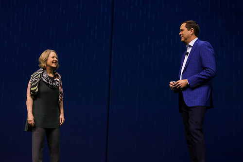 Google's Diane Greene and Cisco's Chuck Robbins discuss their recent partnership