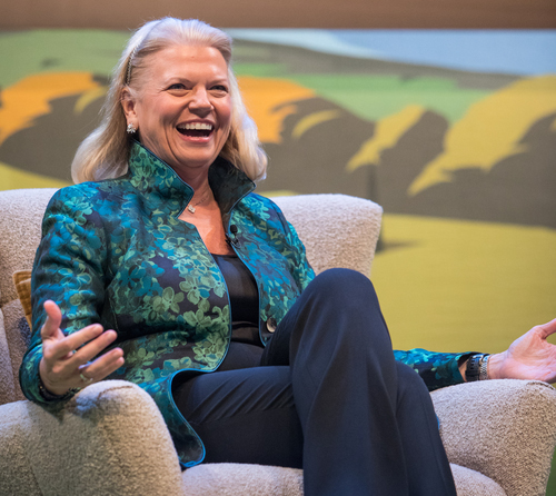 IBM CEO Ginni Rometty at last year's Salesforce Dreamforce conference. Photo by Salesforce.