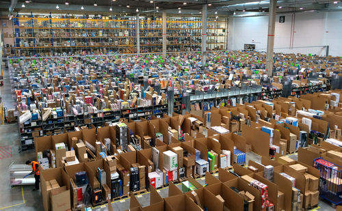 An Amazon facility in Madrid. Photo by Alvaro Ibanez from Madrid, Spain (Amazon Espana por dentro) [CC BY 2.0], via Wikimedia Commons