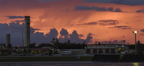 Clouds over Andersen Air Force Base.
