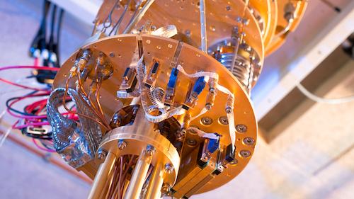 A unit in Microsoft's quantum computer.
