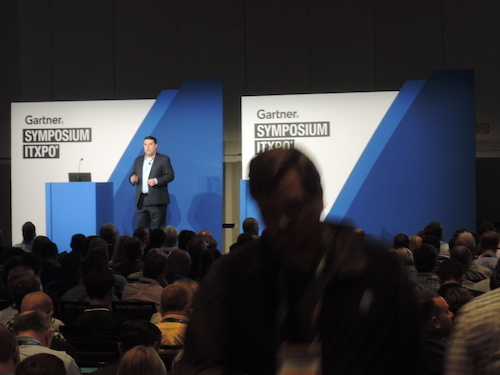 Research director Brian Reed leads a session on enterprise security priorities for 2018 at Gartner Symposium/ITxpo.