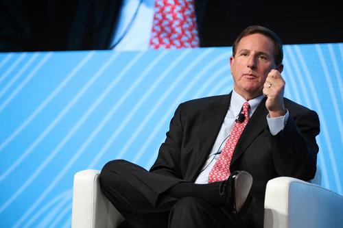 Oracle CEO Mark Hurd in New York City\r\n(Source: Oracle)