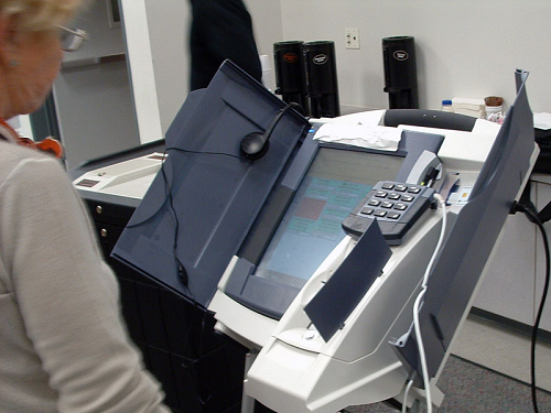A version of the Premier/Diebold AccuVote TSx voting machine that researchers examined