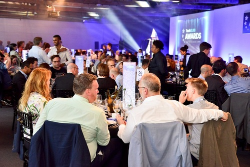 Attendees of the awards enjoyed a three-course meal at Tobacco Dock in east London.