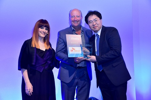 SK Telecom won an award for 'Best 5G Trial Between an Operator and Vendor'.