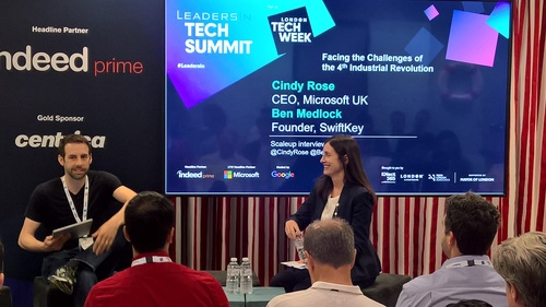 Cindy Rose, Microsoft UK CEO, and Ben Medlock, SwiftKey founder, talk about the fourth industrial revolution and AI.