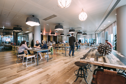 A WeWork co-working space in London. Co-working is a popular option for many startups due to its flexible, low-cost nature. Image: WeWork