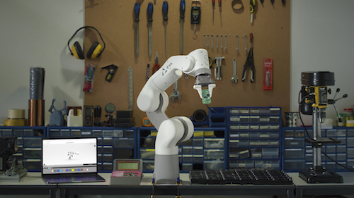 Eva at work. She is designed to be able to automate repetitive menial tasks quickly and efficiently.