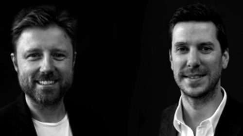 Glint co-founders Jason Cozens (left) and Ben Davies (right).