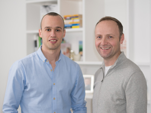 Ari Last (left) and Adrian Murdock (right), co-founders of bubble.