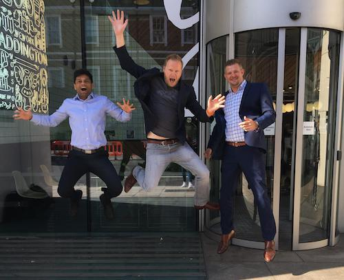 The Databricks EMEA team at the opening of the new office in Paddington. David Wyatt, VP for EMEA, is in the middle. Image: Databricks