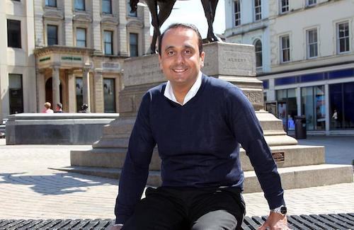 Paul Uppal in his hometown, Wolverhampton. Image: Paul Uppal