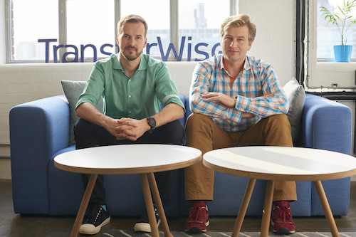 TransferWise co-founders Taavet Hinrikus (Executive Chairman) and Kristo Kaarmann (CEO). Image: TransferWise