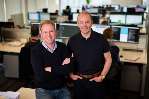 Graphcore co-founders Nigel Toon (left), CEO, and Simon Knowles (right), CTO. Image: Graphcore