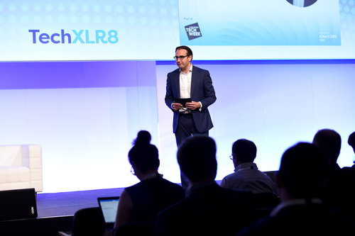 Oli Barrett, from StartUp Britain, hosted the London Tech Week Headliners Stage @ TechXLR8.