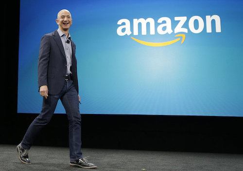 Jeff Bezos founded Amazon in his garage in 1994 and is now one of the world's richest men, with a personal fortune of $115.3 billion. (Image: NPR)