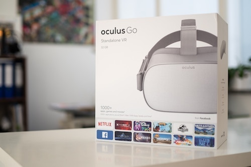 The Oculus Go is the new kid on the VR block, and one of the first truly standalone VR headsets. (Image: Marc Mueller, Unsplash)