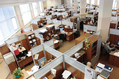 The days of office cubicles are largely gone as work culture changes. (Image: Pixabay)
