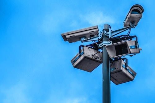 The prevalence ofV CCTV cameras in cities is increasingly creating a feel of the 'surveillance state'. (Image: Nathaniel Dahan, Unsplash)