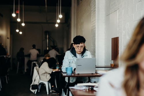 A growing number of 'remote' employees now work from coffee shops, using public WiFi for multiple hours a day. (Image: Brooke Cagle, Unsplash)