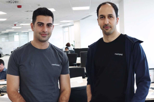 Alex Senemar (left), CEO of Sherbit and Dan Vahdat (right), CEO of Medopad. (Image: Medopad)