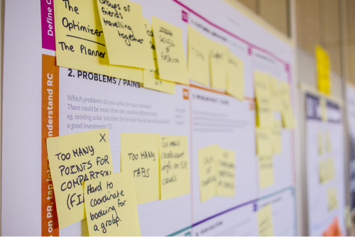 Post-it notes listing what needs doing on a project is often seen as a way to visual an agile workflow.  (Image: Daria Nepriakhina, Unsplash)