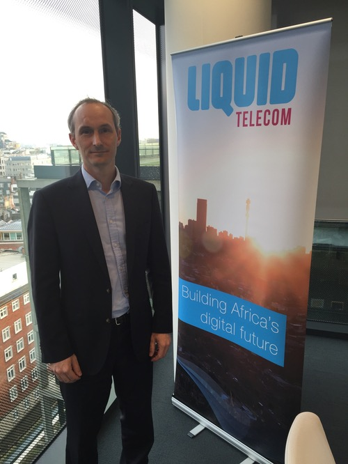 David Eurin, chief strategy officer of Liquid Telecom, at the company's central London offices.