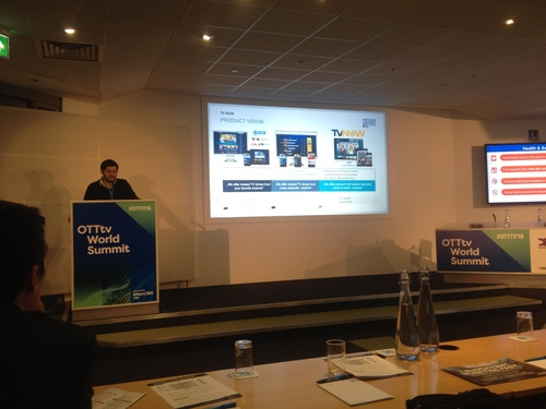 RTL's Dube Presents at the OTTtv World Summit in London.