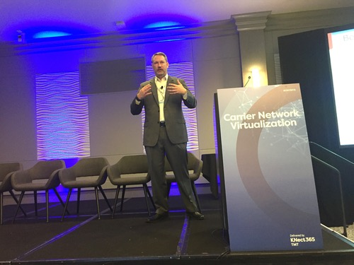 ADVA's Mike Heffner talks about the challenges NFV faces during his opening keynote at the Carrier Network Virtualization conference in Palo Alto, California.