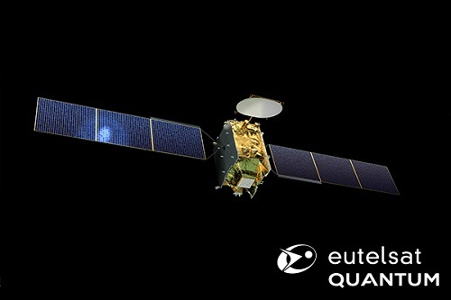 Artist's rendition of the new Eutelsat Quantum class satellite. Credit: Airbus Defence and Space