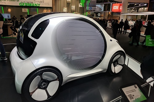 The connected and autonomous cars of MWC 2018.